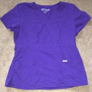 Grey's Anatomy size large purple scrub top